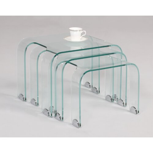 Bent Nesting Tables (3 Piece Set)