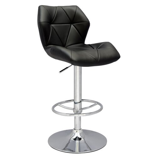 Pneumatic Gas Adjustable Swivel Bar Stool with Cushion