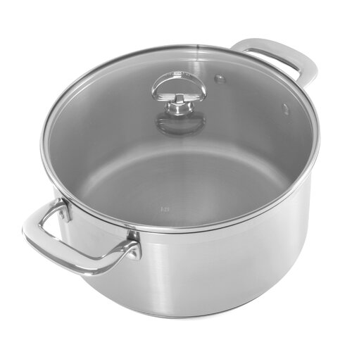 Induction 21 Steel™ 6-qt. Stainless Steel Round Casserole