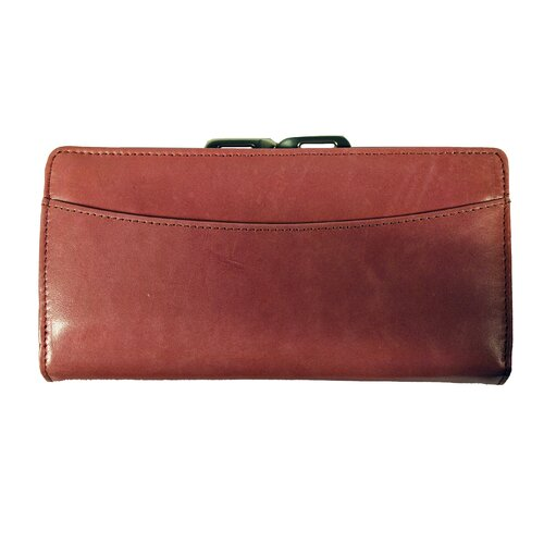 Budd Leather Distressed Leather Framed Clutch