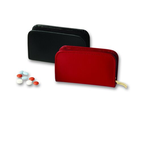Budd Leather Travel Accessory 4 Vial Pill Case