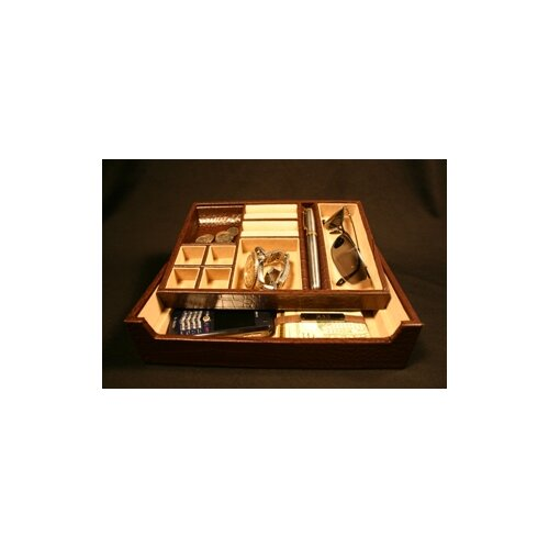 Budd Leather Croco Accessory Tray