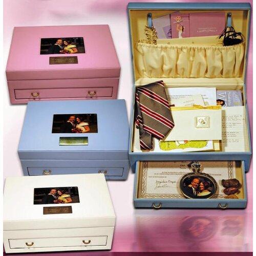 Budd Leather Exquisite Leather Memory Keepsake Box
