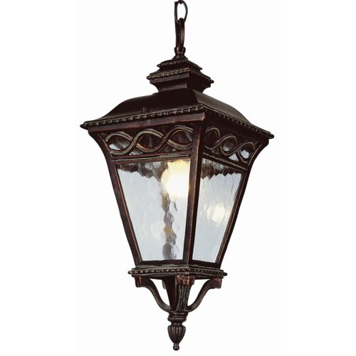 TransGlobe Lighting 3 Light Outdoor Large Hanging Lantern
