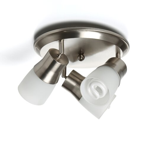 3 Light Semi Flush Mount Spot Light