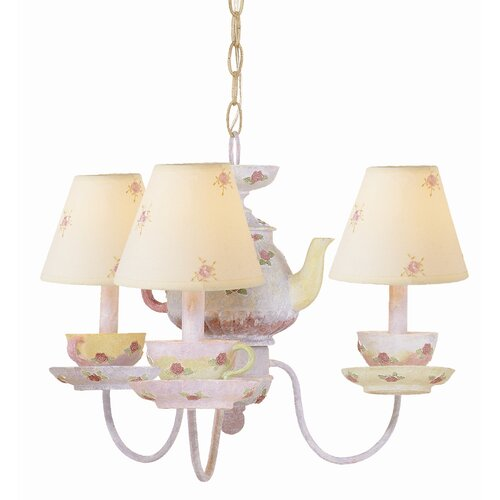 TransGlobe Lighting Kids Korner 3 Light Kids Tea Cup Chandelier
