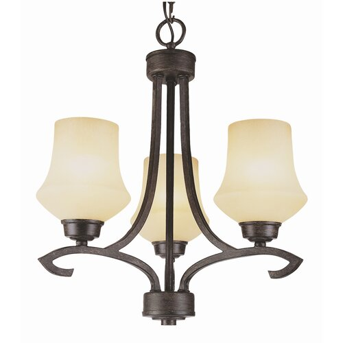 TransGlobe Lighting New Century 3 Light Mini Chandelier