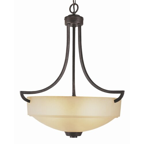 TransGlobe Lighting New Century 3 Light Inverted Pendant