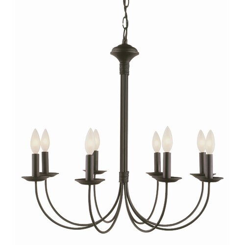 TransGlobe Lighting New Century  8 Light Chandelier