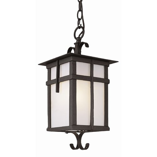 TransGlobe Lighting Exterior Hanging Lantern with Glass