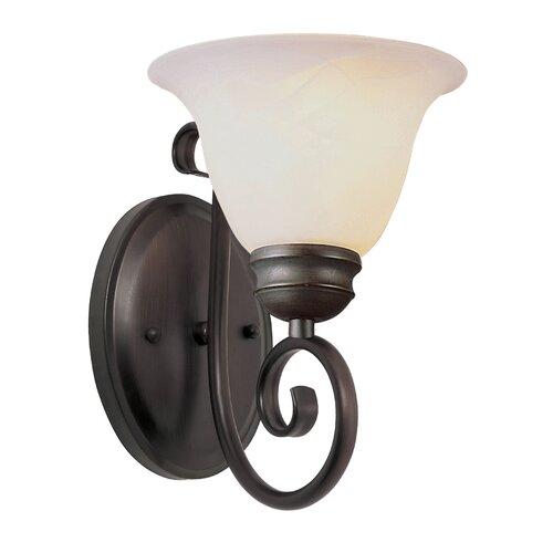 TransGlobe Lighting 1 Light Wall Sconce with Marbleized Shade
