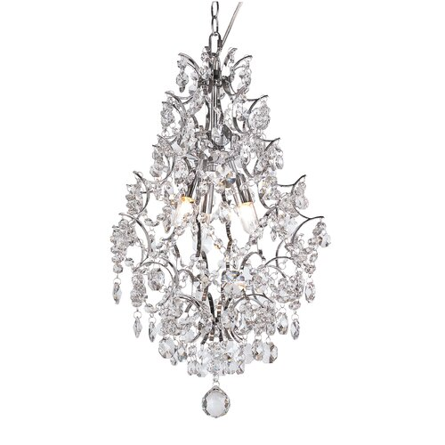 TransGlobe Lighting 3 Light Tall Pendant