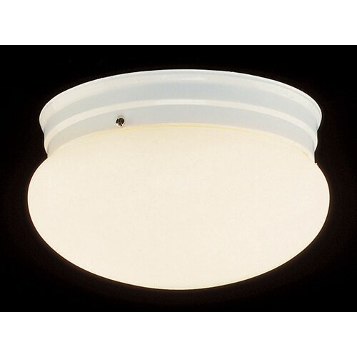 TransGlobe Lighting Mushroom 1 Light Flush Mount