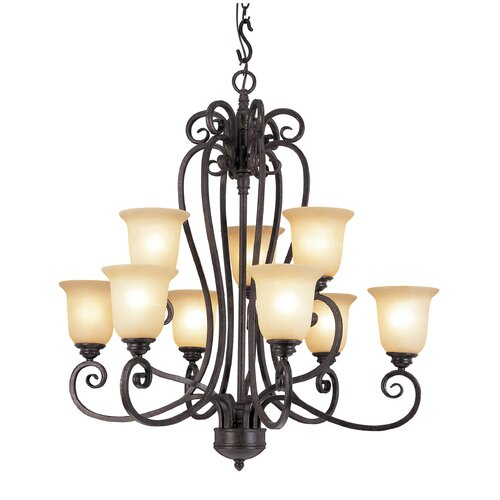 Taste of Elegance 9 Light Chandelier
