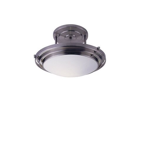 TransGlobe Lighting 1 Light Semi Flush Mount