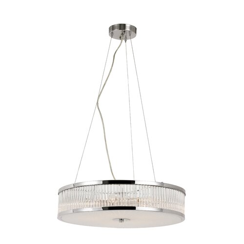 TransGlobe Lighting Crystal Sun 5 Light Pendant