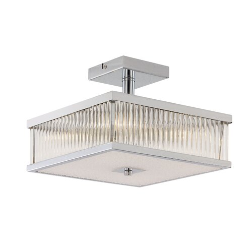 TransGlobe Lighting Sunburst 5 Light Semi-Flush Mount