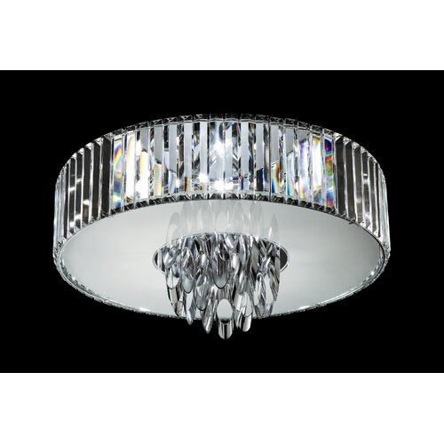 TransGlobe Lighting Chimes 6 Light Flush Mount