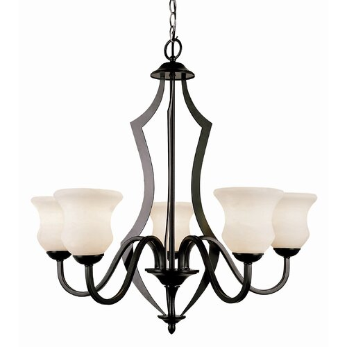Mod Deco 5 Light Chandelier