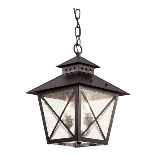 TransGlobe Lighting Chimney Vented 2 Light Outdoor Hanging Lantern