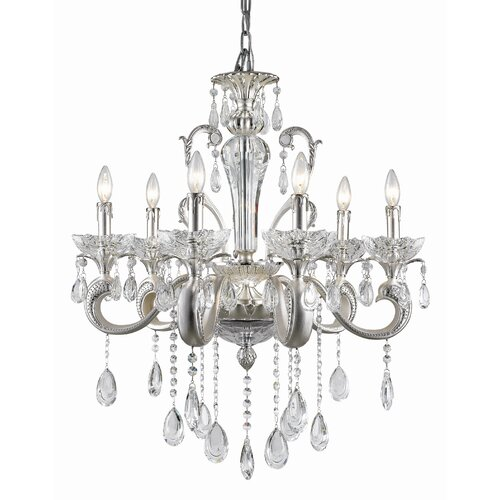 Helios 6 Light Crystal Chandelier