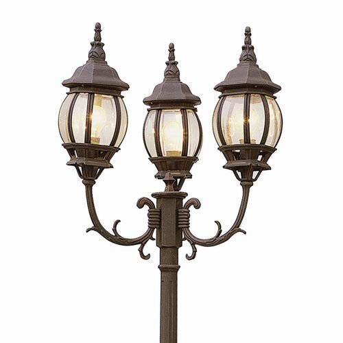 "TransGlobe Lighting Outdoor 3 Light 91.5"" Post Lantern Set"