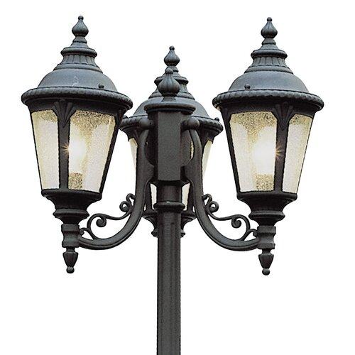 3 light 84 5 outdoor post lantern set wayfair for 59 victorian lighted black lamp post christmas decoration