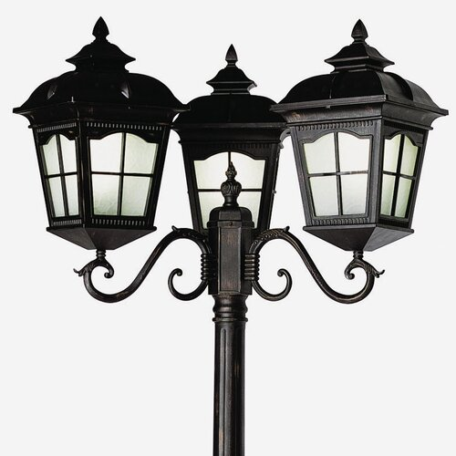 "TransGlobe Lighting 3 Light 85"" Post Lantern Set"
