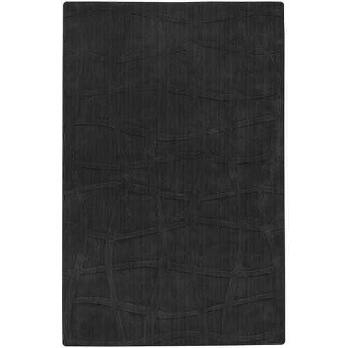 Sculpture Square Black Checked Rug