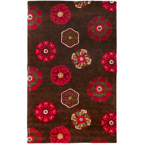 Smithsonian Rugs Smithsonian Chocolate Floral Rug