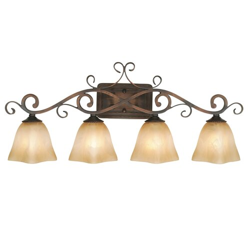 Golden Lighting Meridian 4 Light Bath Vanity Light
