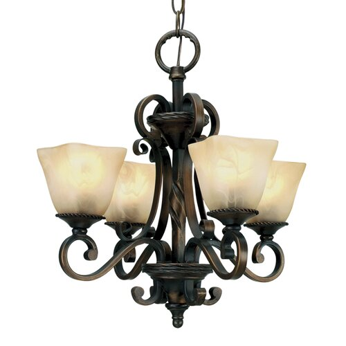 Meridian 4 Light Mini Chandelier