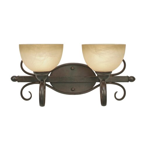 Golden Lighting Riverton 2 Light Bath Vanity Light