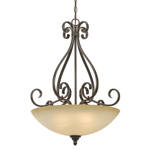 Golden Lighting Riverton 3 Light Bowl Inverted Pendant