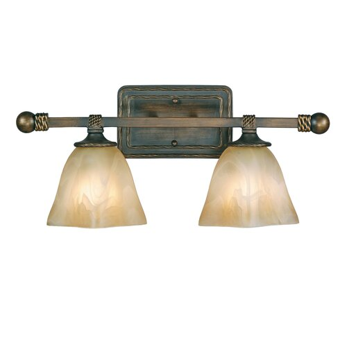 Golden Lighting Meridian 2 Light Bath Vanity Light