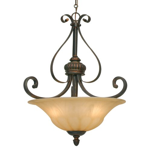 Golden Lighting Mayfair 3 Light Bowl Inverted Pendant