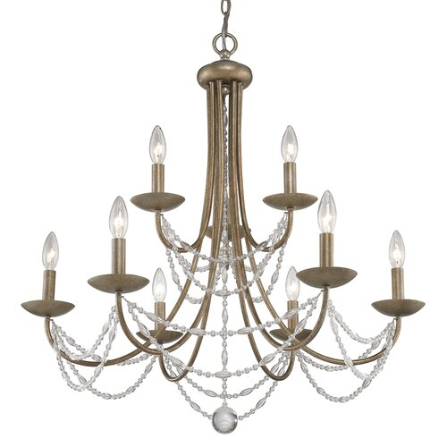 Golden Lighting Mirabella 9 Light Chandelier