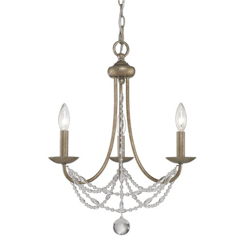 Golden Lighting Mirabella 3 Light Mini Chandelier