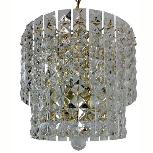 Prismatic Gem 5 Light Crystal Drum Chandelier