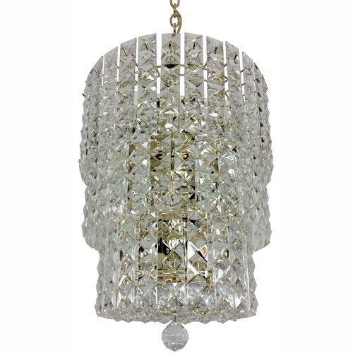 Prismatic Gem 8 Light Crystal Drum Chandelier