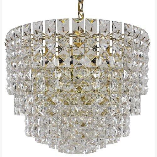 Prismatic 7 Light Crystal Drum Chandelier