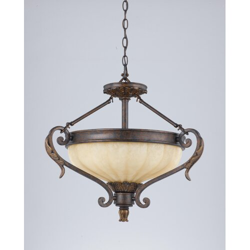 Triarch Lighting Venus 3 Light Convertible Semi Flush Mount