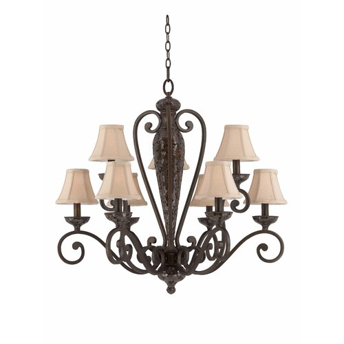 Triarch Lighting Jewelry 9 Light Chandelier