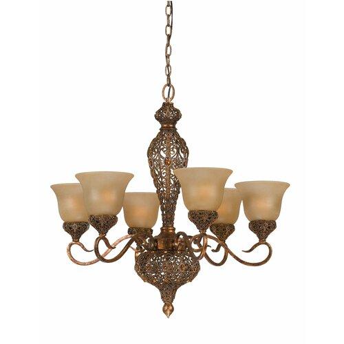 Triarch Lighting Crown Jewel 6 Light Chandelier