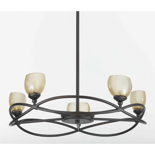 Retro 5 Light Chandelier