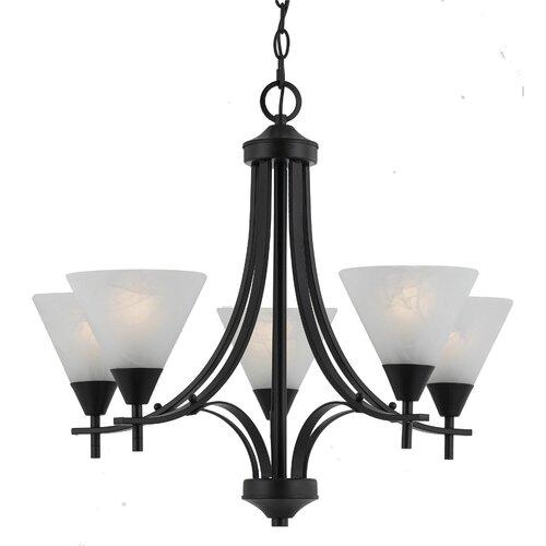 Triarch Lighting Value Series 5 Light Chandelier