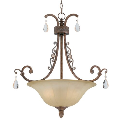 Triarch Lighting Le'Chandon 3 Light Inverted Pendant