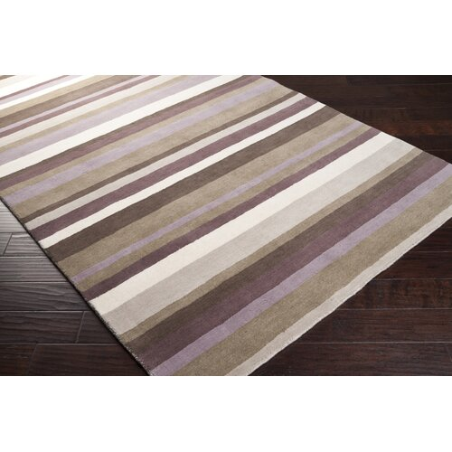 angelo:HOME Madison Square Dark Brown Multi Rug