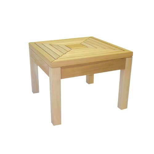 Cedar Delite Square Western Red Cedar Side Table