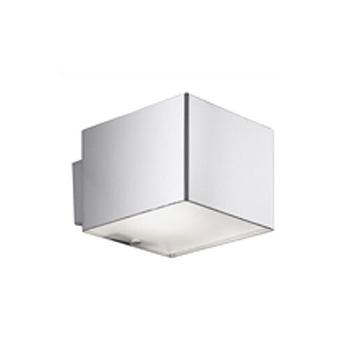 Zaneen Lighting Domino Inox One Light Flush Mount  /  Wall Sconce in Stainless Steel